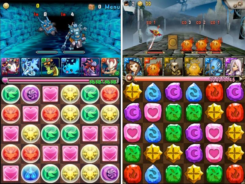 Screenshot of Puzzle & Dragons, Tower of Saviors