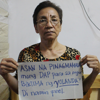 """Where is the DAP that you boasted for [supertyphoon] Yolanda victims? We don't feel it."""