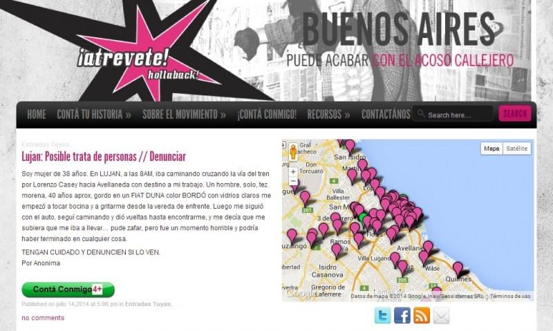 A screenshot of the AtréveteBA website.