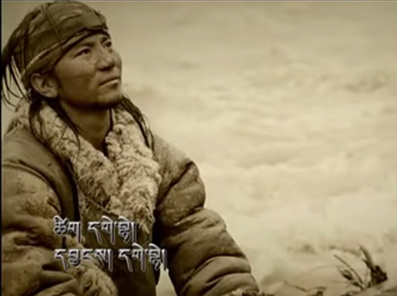 Popular Tibetan singer Gepe was arrested after singing in a music concert. Screen capture from YouTube.