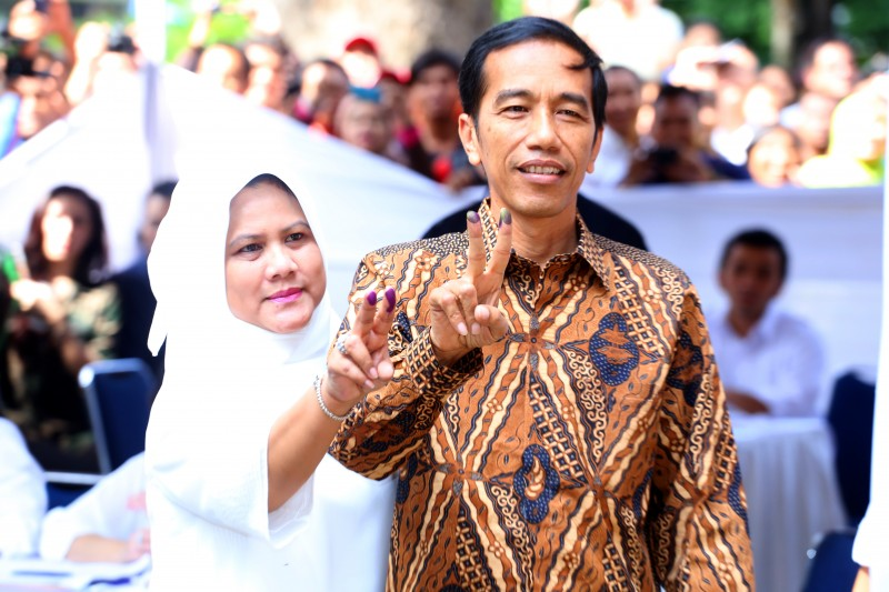 Jakarta Governor Joko Widodo or Jokowi is Indonesia's president-elect. Photo by Denny Pohan, Copyright @Demotix (7/9/2014)
