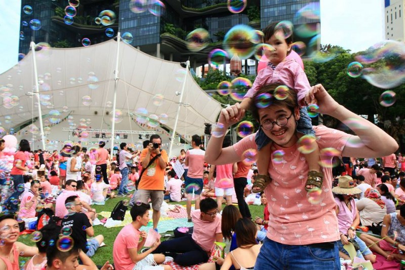 'We are family' by Kong Chek Yong. Photo from Facebook page of Pink Dot SG