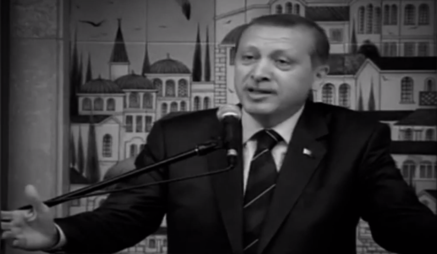 Turkey's prime minister has denounced Israel repeatedly. Screenshot from video uploaded by YouTube user Tamerscadence