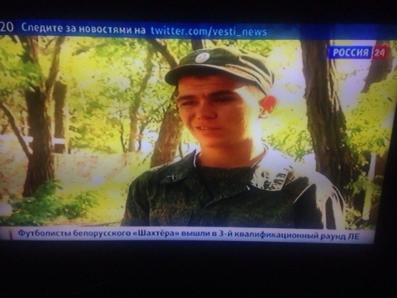 Vadim Grigoryev appears on the evening news of Rossia-24 channel on July 24, 2014. Screencap courtesy of tjournal.ru.