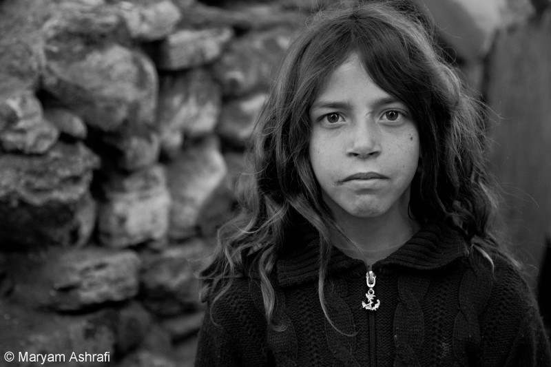Portrait of a young Syrian refugee in Istanbul, February 2014.