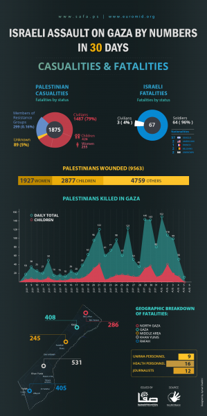 Israeli Assault on Gaza in numbers (Source: Euromid)
