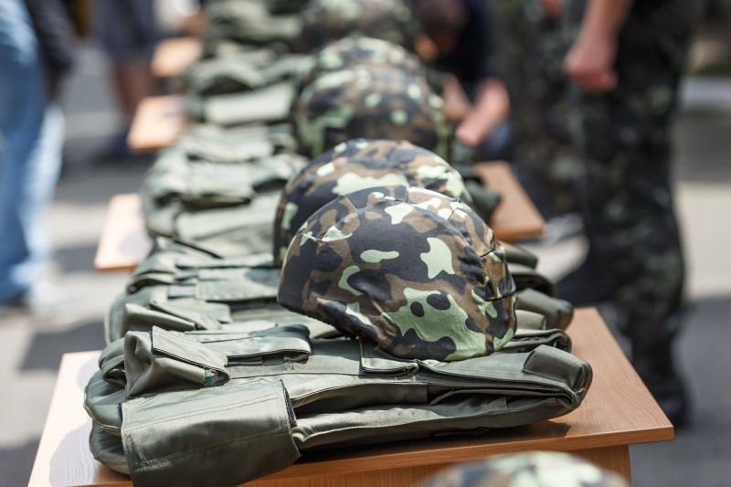 Ukraine sends 145 vests and helmets to ATO fighters in East Ukraine, 10 June 2014, by Oleg Pereverzev. Demotix.