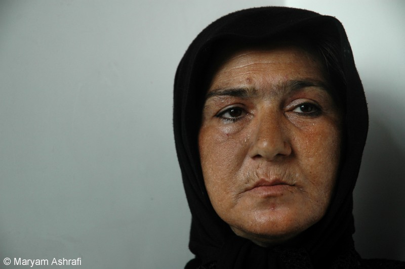 "Maryam captures a recovering addicts portrait in Tehran's Perspolis drop-in centre in 2005. Of the photo, Maryam explains, "" She was forced to use drugs which she believed was her husband's intention to keep her dependent on him. It took her years to realise the road she was drawn into. Determined to stop, she ran away from her husband and asked for help. Persepolis was amongst the few NGOs in Iran that helped drug addicts overcome their addiction through a step-by-step recovery using methadone."""