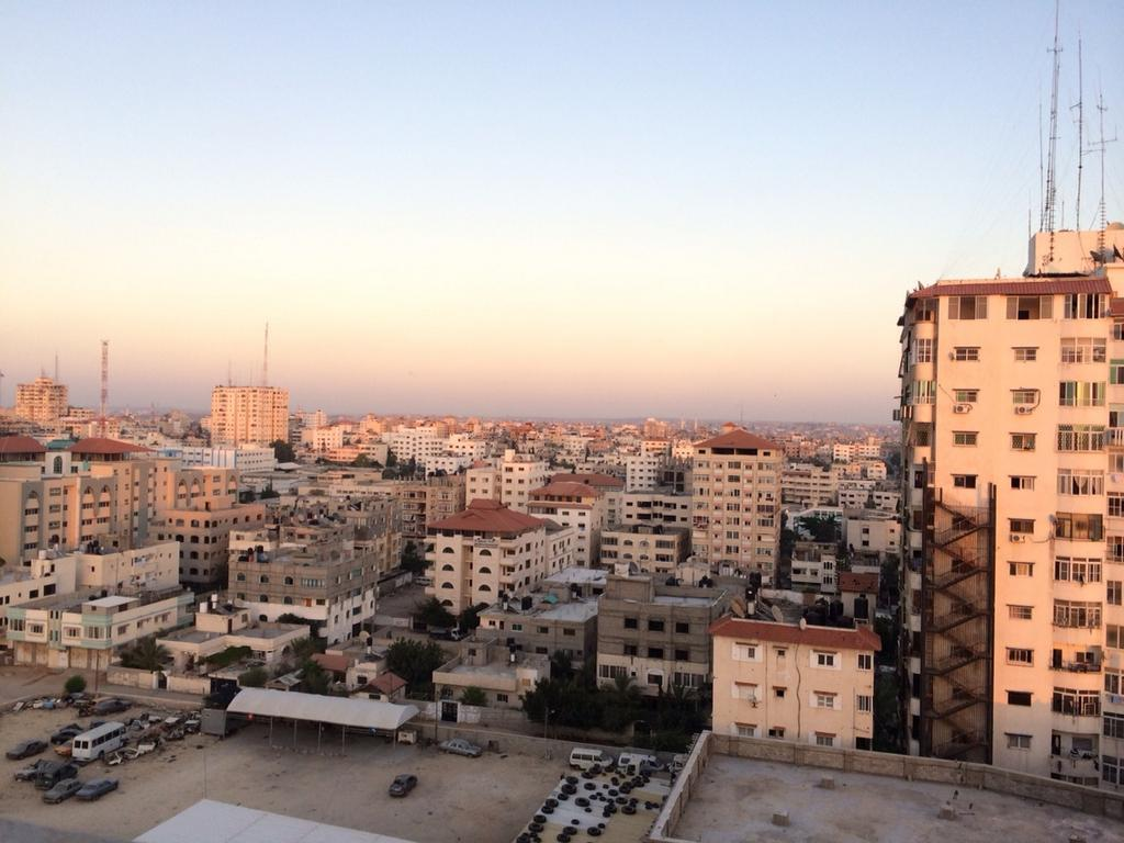 A view of Gaza at the same of the ceasefire, taken by Dan Cohen
