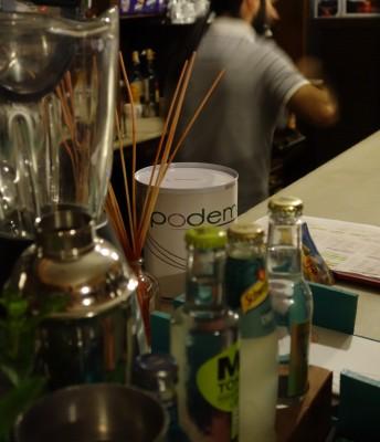 Podemos collecting tin in a cafe in Vigo, Spain.