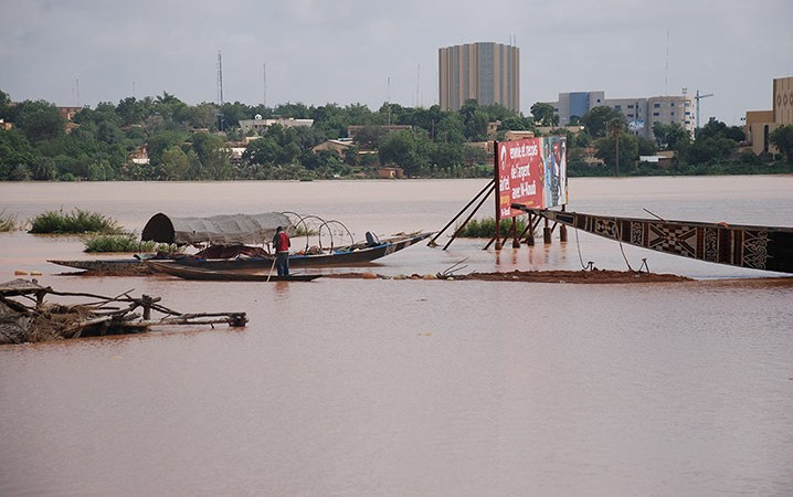 Flooding in Niamey in Niger - Public Domain