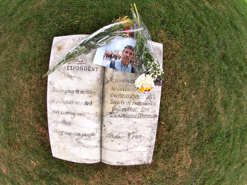 Flowers laid for American journalist James Foley - Arlington
