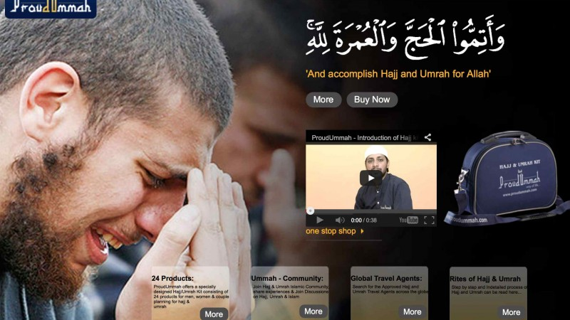 Screenshot of the Proud Ummah Website