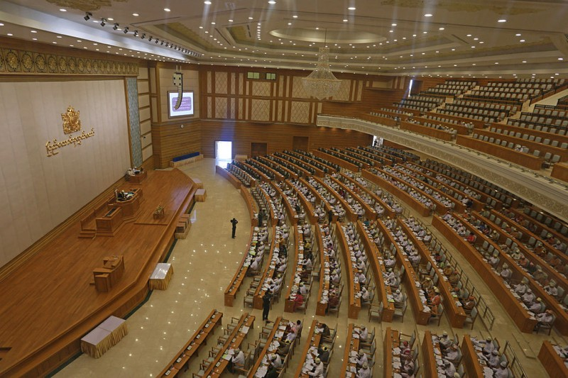 Myanmar's Lower House Parliament. Photo by Htoo Tay Zar. Wikipedia