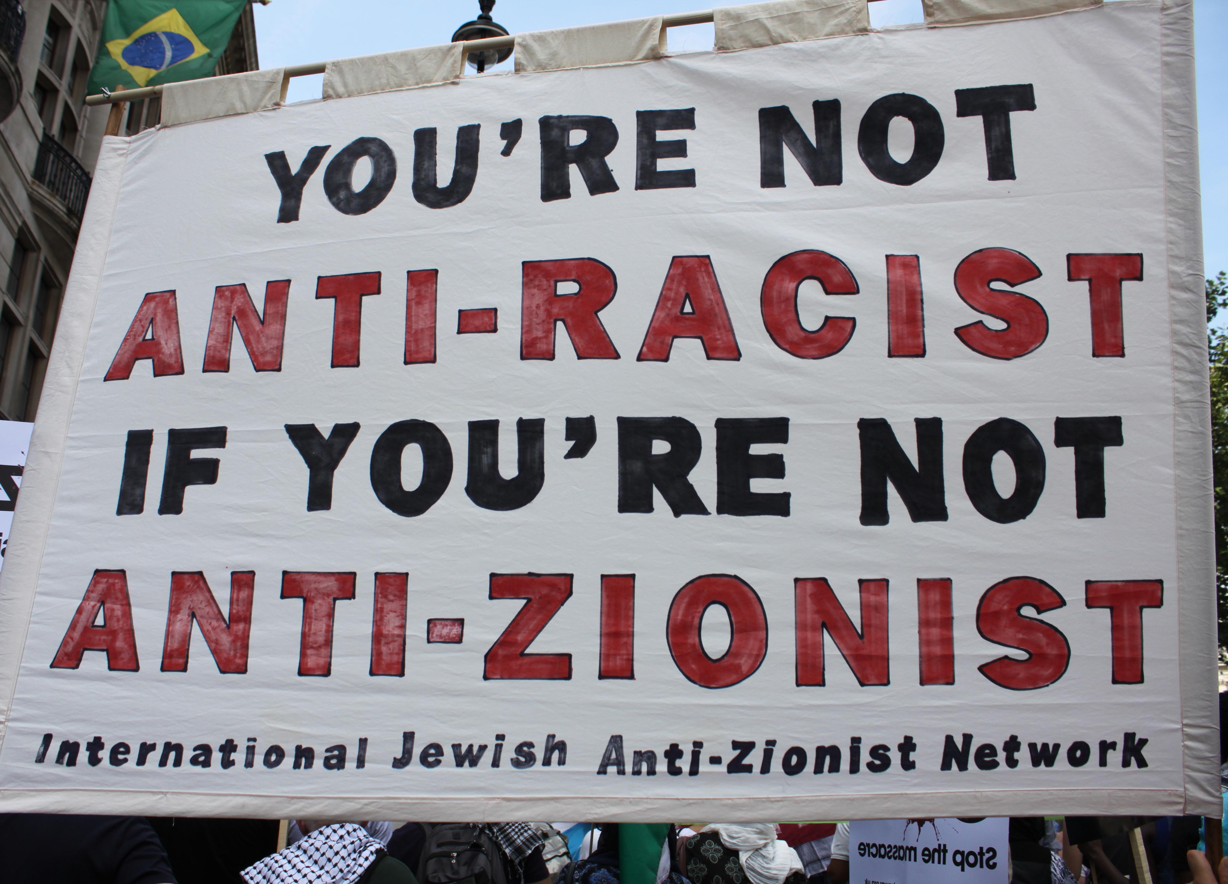 Protest by the International Jewish Anti-Zionist Network (IJAN)