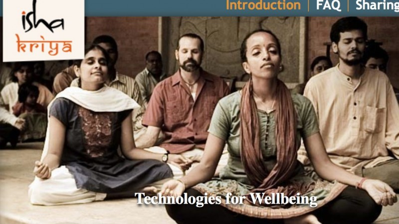 Screenshot of Isha Kriya Website