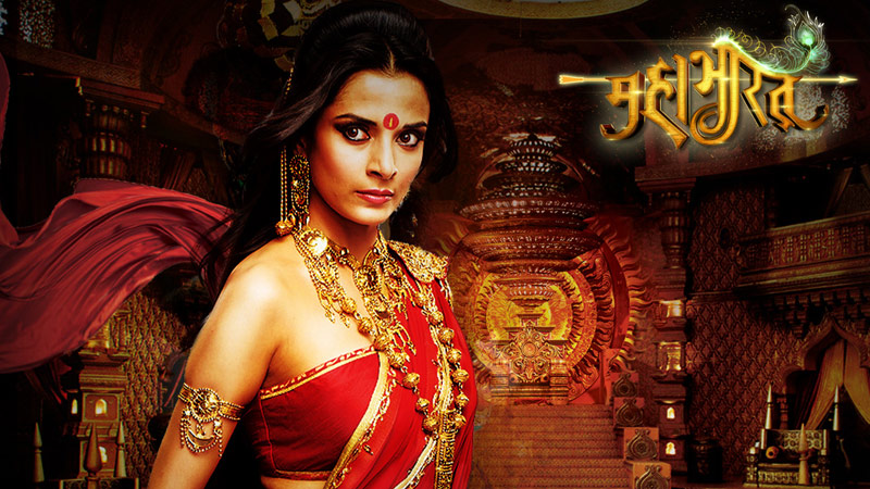 The Mahabharat TV serial is using the web to drive viewership. User engagement methods include wallpaper downloads, such as this screenshot from the Mahabharat website.