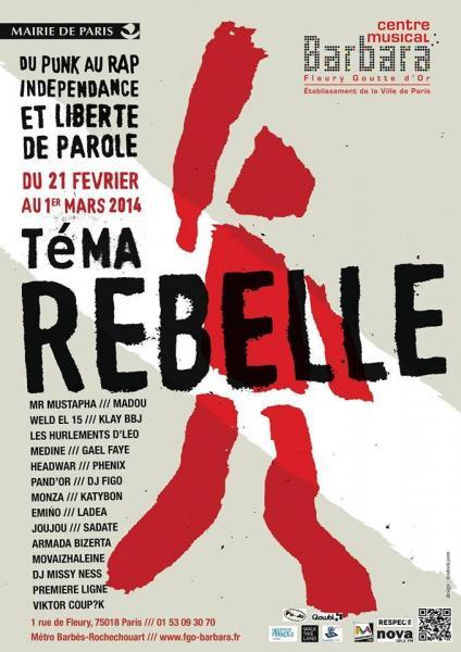 Poster van het TeMA Rebelle-festival