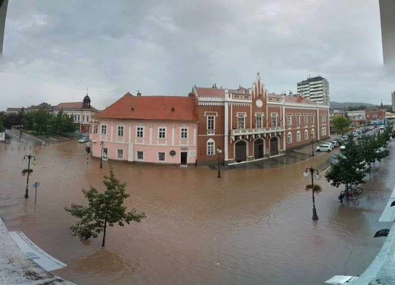 Flooding in Vršac, Serbia during a new wave of flooding in July 2014. Photos collected by Nenad Kiss from social media users, widely circulated online.