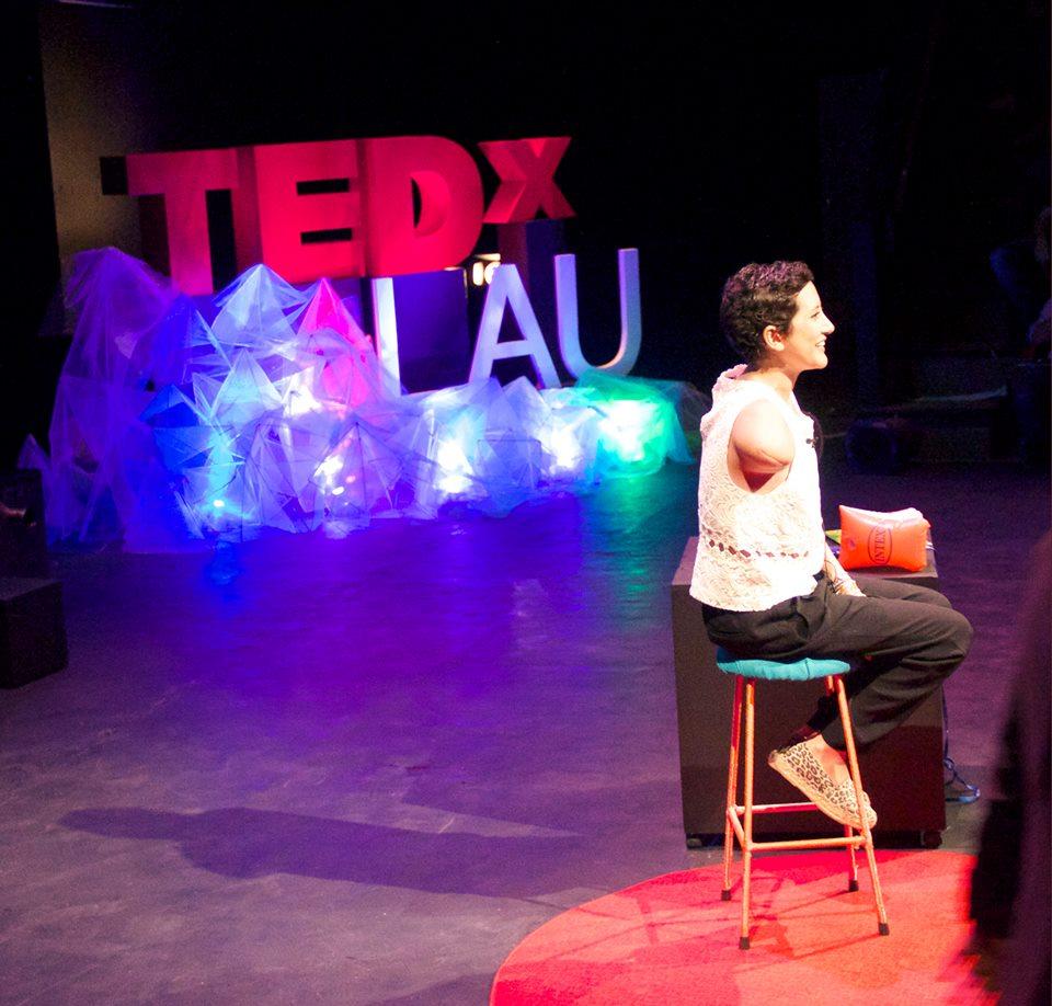 Sara Khatib at TEDxLAU (Source: Humans of LAU)