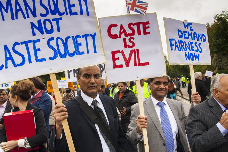 Protest March in UK demanding to eradicate the centuries-old caste system that exists on the Indian sub continent and amongst expatriate communities. Image by Paul Davey. Copyright Demotix (19/10/2013)