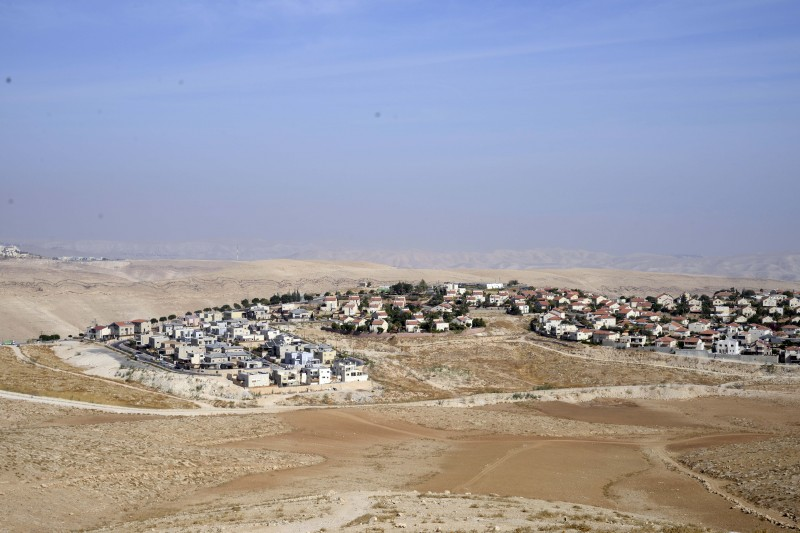 A general view of constructions in the Jewish settlement of Maale Adumim and Kedar in the West Bank. The practice, against international law, continues today. Photograph by Mahmoud illean. Copyright: Demotix