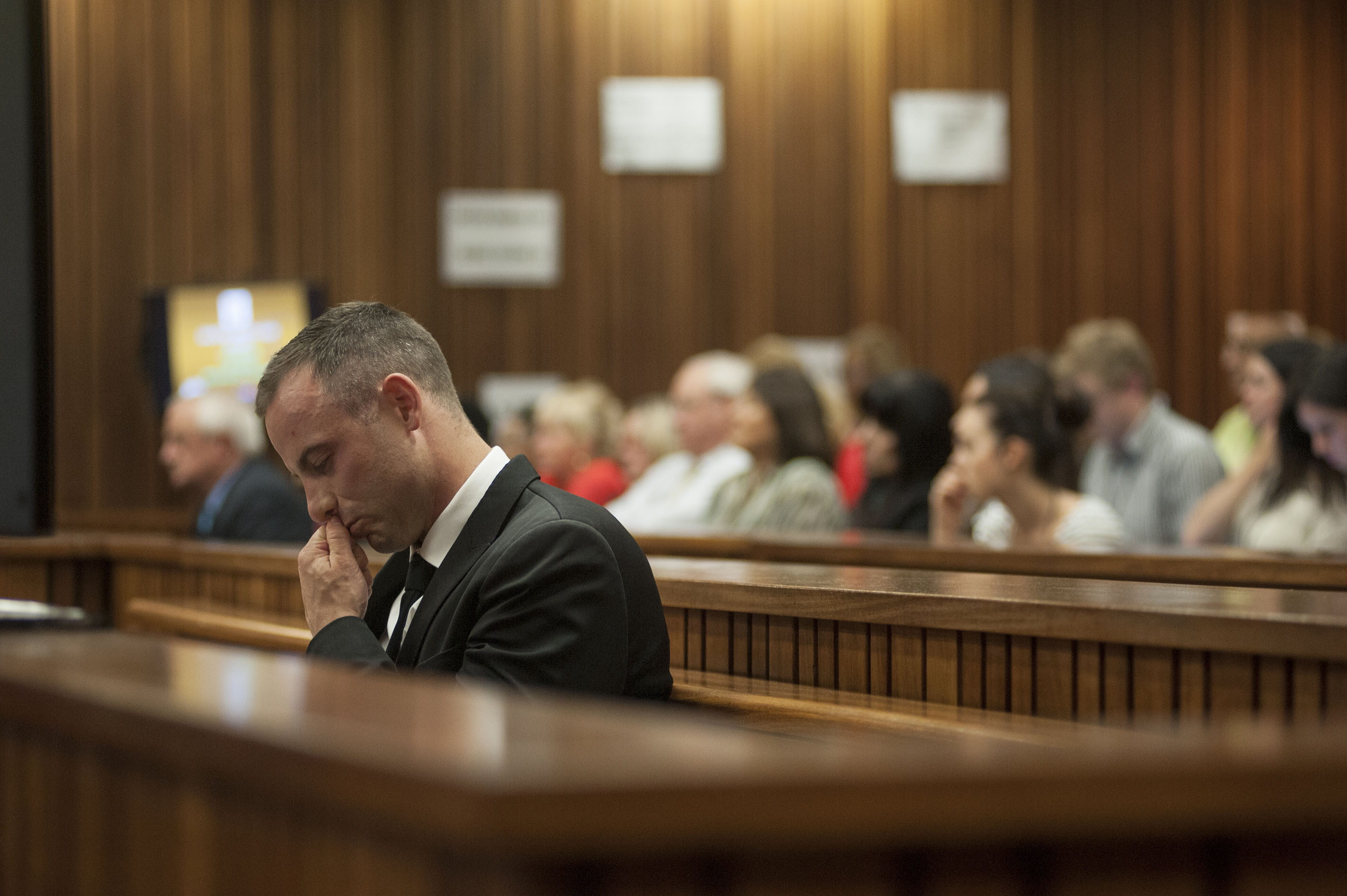 Paralympic athlete Oscar Pistorius in court. May 5, 2014 by Ihsaan Haffejee. Demotix.