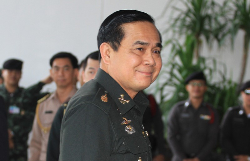 Prayuth Chan-ocha 29th Prime Minister of Thailand and chief of the army. Photo by Vichan Poti, Copyright @Demotix (9/4/2014)