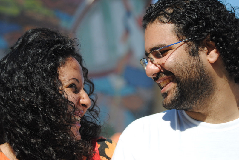 Alaa Abd El Fattah and Manal Hassan. Photo by Lilian Wagdy via Wikimedia Commons (CC BY 2.0)