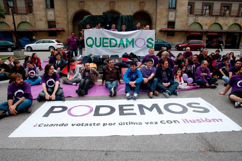"Image taken from the ""Podemos"" party's Facebook account."