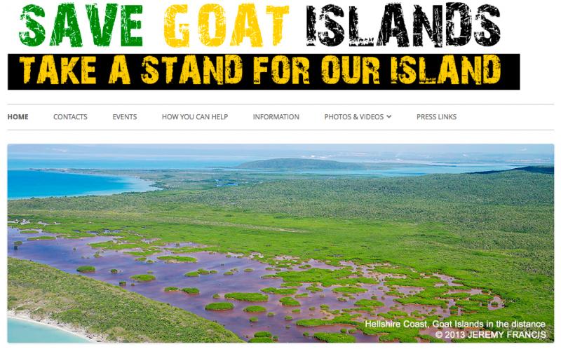 Savegoatislands.org screen capture.