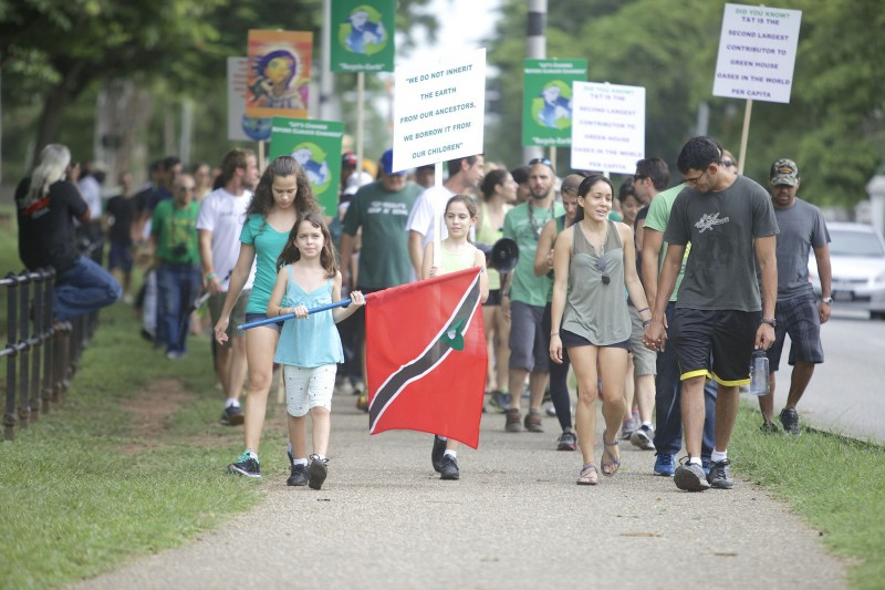The 2014 Climate Change March in Trinidad and Tobago; photo by Dylan Quesnel, courtesy IAMovement, used with permission.