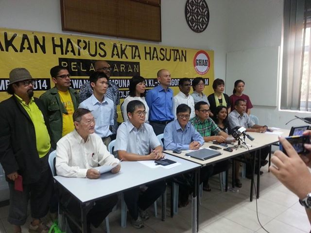 Launching of people's movement calling for the repeal of the Sedition Act of 1948. Photo from Suaram.net