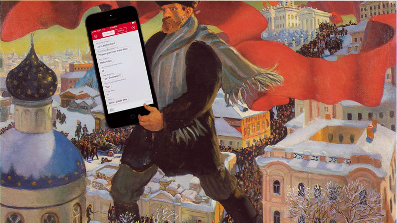 "Boris Kustodiev's ""Bolshevik,"" edited by Kevin Rothrock."