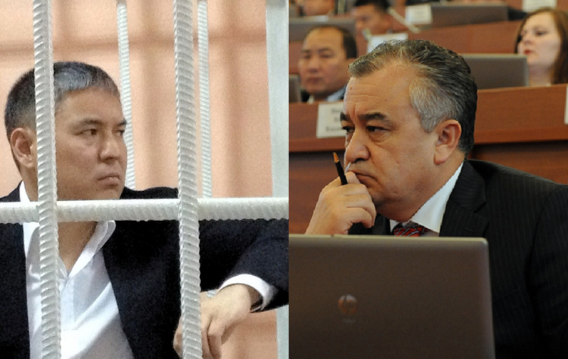 Many Kyrgyz doubt the difference between a convicted criminal like Kolbayev (left) and an MP like Tekebayev (right). Image remixed by author.