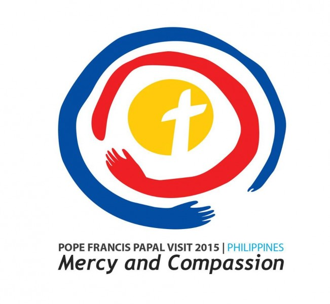 Official logo for the papal visit to the Philippines in 2015