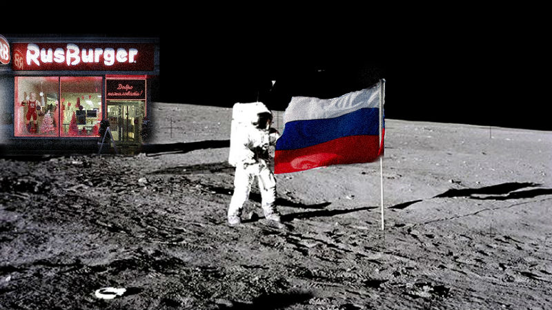 As Russia announces grand plans for Moon exploration, its citizens have more earthly concerns. Images mixed by Tetyana Lokot.