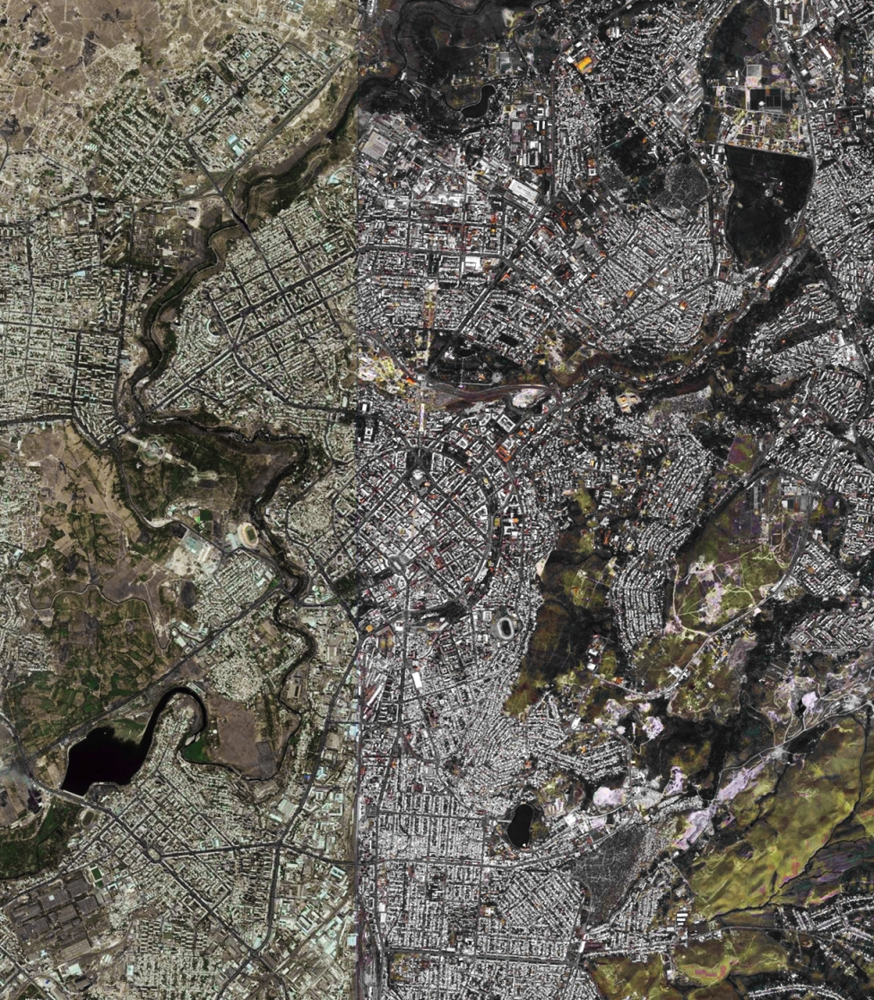 An aerial view of contemporary Yerevan.(Image credit: Bing Maps).