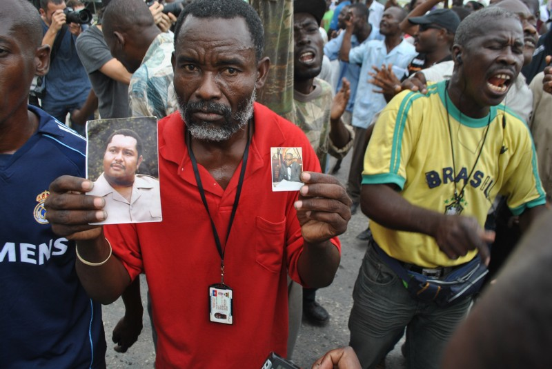 Protests as 'Baby Doc' returns to Haiti, 18 January 2011, photo by Jean Jacques Augustin. Demotix.