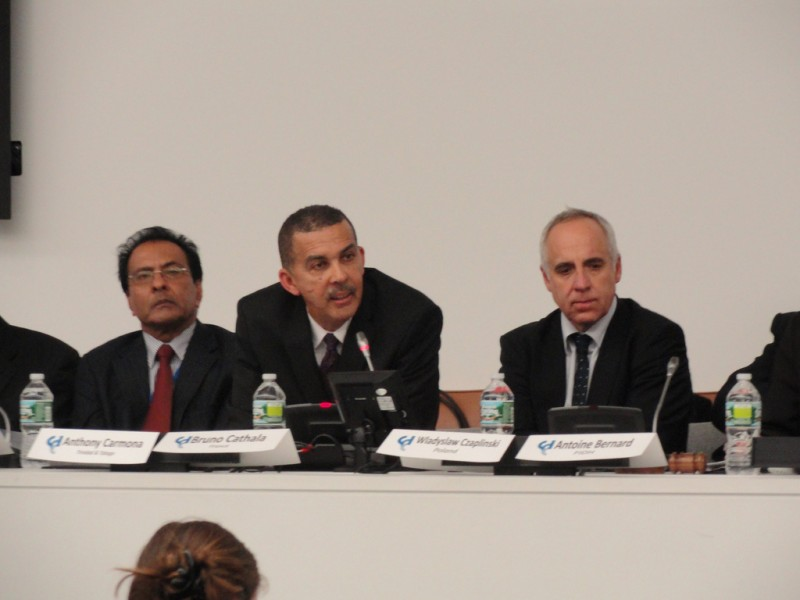 Trinidad and Tobago President Anthony Carmona, speaking at the International Criminal Court's  Judicial Candidates Forum in New York in 2011. Photo by Coalition for the ICC; used under a CC BY-NC-ND 2.0 license.