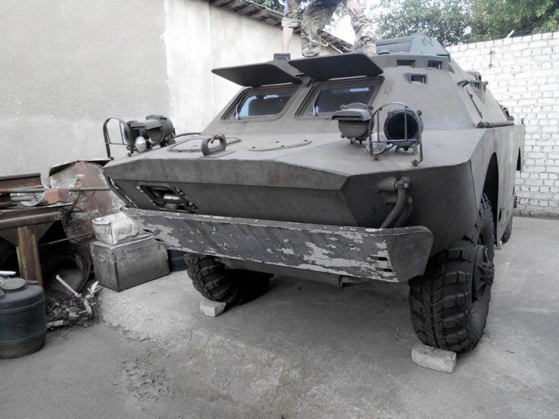 One of the two armored personnel carriers Makarenko has sourced for the Aidar Battalion. Courtesy image.