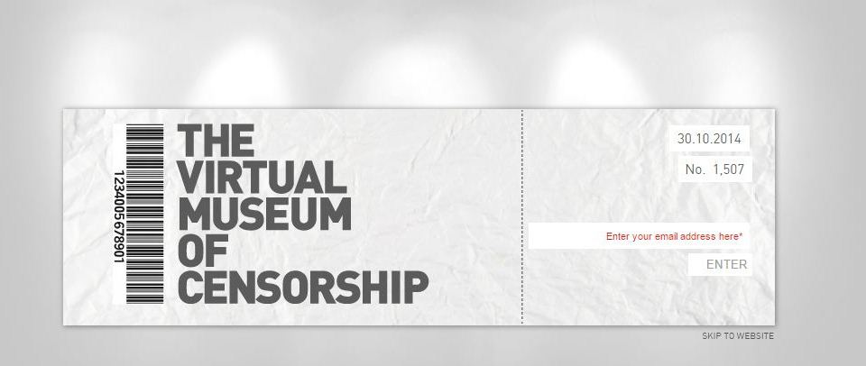 The Virtual Museum of Censorship in Lebanon website intro - Print Screen