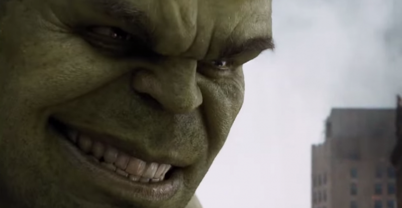 Mark Ruffalo's The Hulk, from The Avengers. YouTube screen capture.