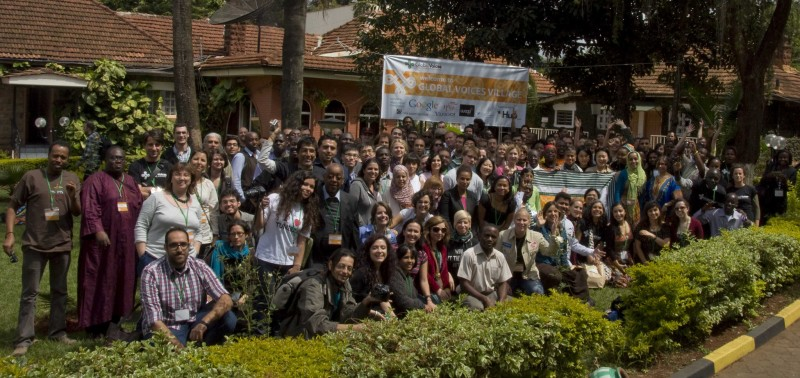 Community members at the Global Voices Citizen Media Summit 2012 in Nairobi, Kenya.