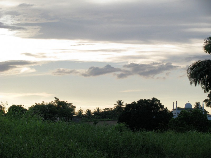 Mosque at sunset in Dow Village, Trinidad; photo by Taran Rampersad, used under a CC BY-NC-SA 2.0 license. Muslims comprise about 6% of the population in Trinidad and Tobago, with some regional territories having a higher representation and others, like Barbados, having a smaller percentage.