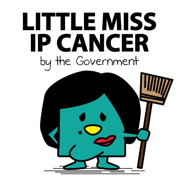 Little Miss Ip Cancer This figure represents Regina Ip, a member of the government Executive Council, lawmaker and a former head of the government Security Bureau. She fully supports the police violent crackdown on peaceful protesters.
