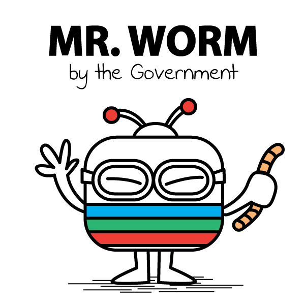 "Mr. Worm The figure represents Yuen Chi Wai, the executive of the news department of Television Broadcast (TVB), a most popular TV station in Hong Kong. Yuen ordered the news team to edit the script of voice over of a news footage which clearly showed a number of police officers beating up a handcuffed protester in a dark corner near the massive sit-in protest site. According to a leaked voice record of the TV station's news department internal meeting, Yuen criticized his colleague for being judgmental in the voice over and said, ""you are not the worms inside the police officers, how can you be so sure that the act of punching and kicking are for real?"""