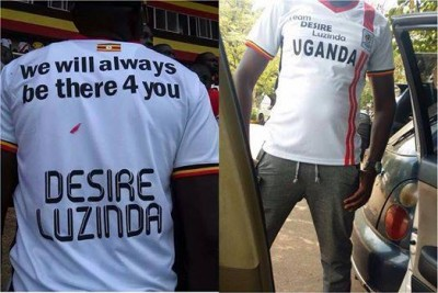 A man shows off The Team Desire Jersey