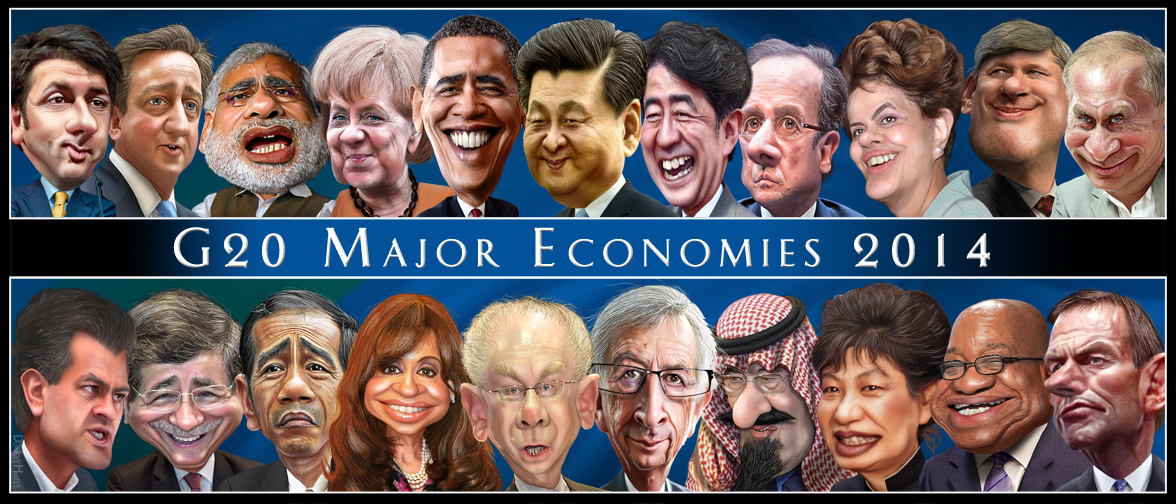 The G-20 Leaders - Caricatures. Flickr photo by DonkeyHotey (CC License)