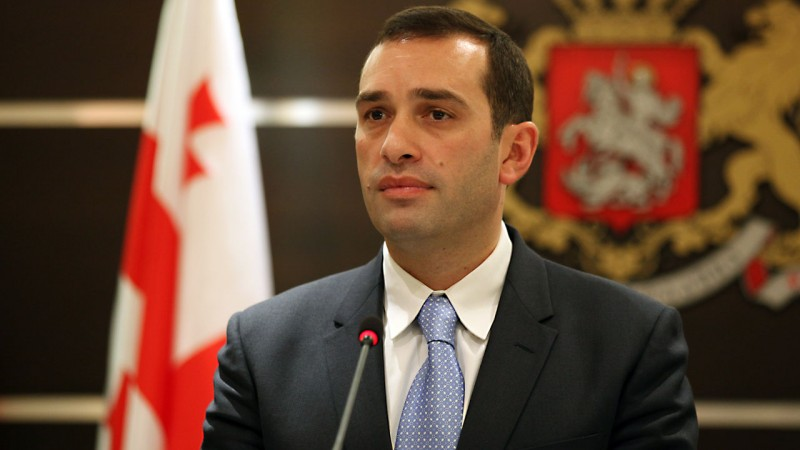 Sacked Defence Minister, Irakli Alasania in October this year. Image: Georgian Ministry of Defence.